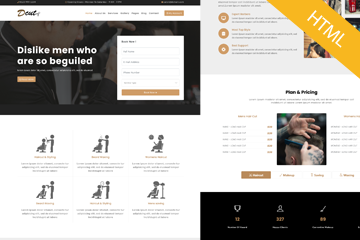 Dcut -The Salon HTML Responsive template